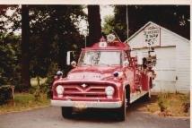 Engine 323 at Engine Co. #3 (1974) Temporary Quarters